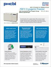 Cryogenic freezer - 8.2 cu ft capacity