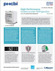 High Performance Undercounter Vaccine Refrigerator